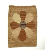 Vtg Earthy Brown Wool Woven Tapestry Peruvian Textile Wall Art Decor Boh... - $29.69