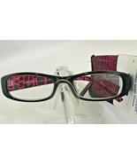Foster Grant Womens Vianca Black Purple Reading Glasses w/Case +2.75 - $7.00
