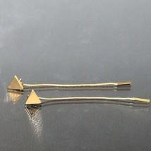 Fashion Triangle Earrings Tassel Chain Earrings Anti-allergic Word Earri... - $20.00