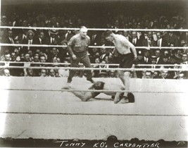 JACK TUNNEY vs GEORGES CARPENTIER 8X10 PHOTO BOXING PICTURE - $3.95
