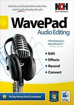 WavePad Sound Editor Masters Edition for PC or Mac .Edit audio and music  - $71.25