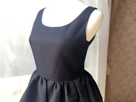 LITTLE BLACK DRESS Bubble Knee Length Sleeveless Princess Flare Party Dress  image 2