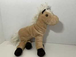 Russ Berrie Silky 1977 vintage plush horse pony white brown tan 985 beanbag - $19.79