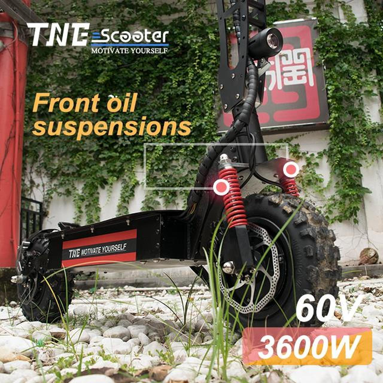 Electric Scooter TNE Prometheus 3600w 60v 25ah Lithium Battery Hydraulic Shocks