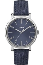 Timex Women's T2P171 Blue Leather Quartz Fashion Watch - $51.48