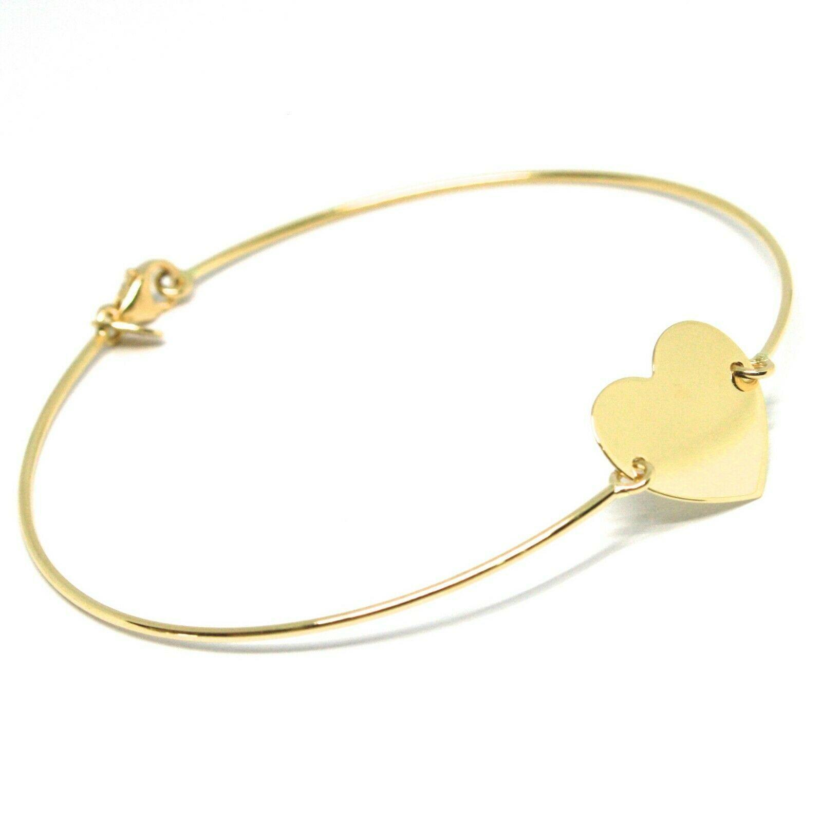 Mini Armband Gelbgold oder Weiß 750 18K, Samen Starr, Herz Gerade Zentrale