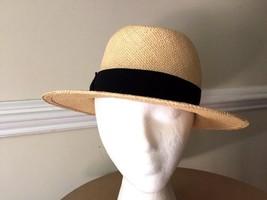 Scala Panama Hat Medium 7-7 1/8 Black Band USA Made - $44.88