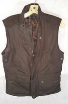 Ralph Lauren Black Label Mens brown Poly Oxford Black Vest S - $110.00