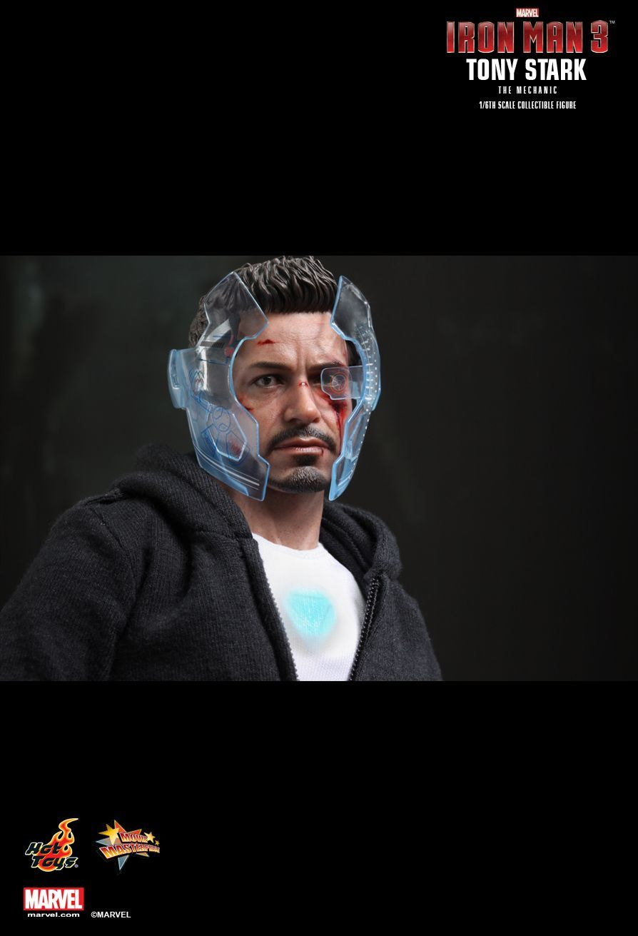 HOT TOYS MARVEL IRONMAN IRON MAN 3 1/6 Tony Stark The Mechanic Action Figure