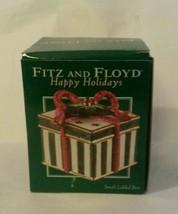 Fitz & Floyd Happy Holidays Small Lidded Box New IN Box 2004 - $22.35