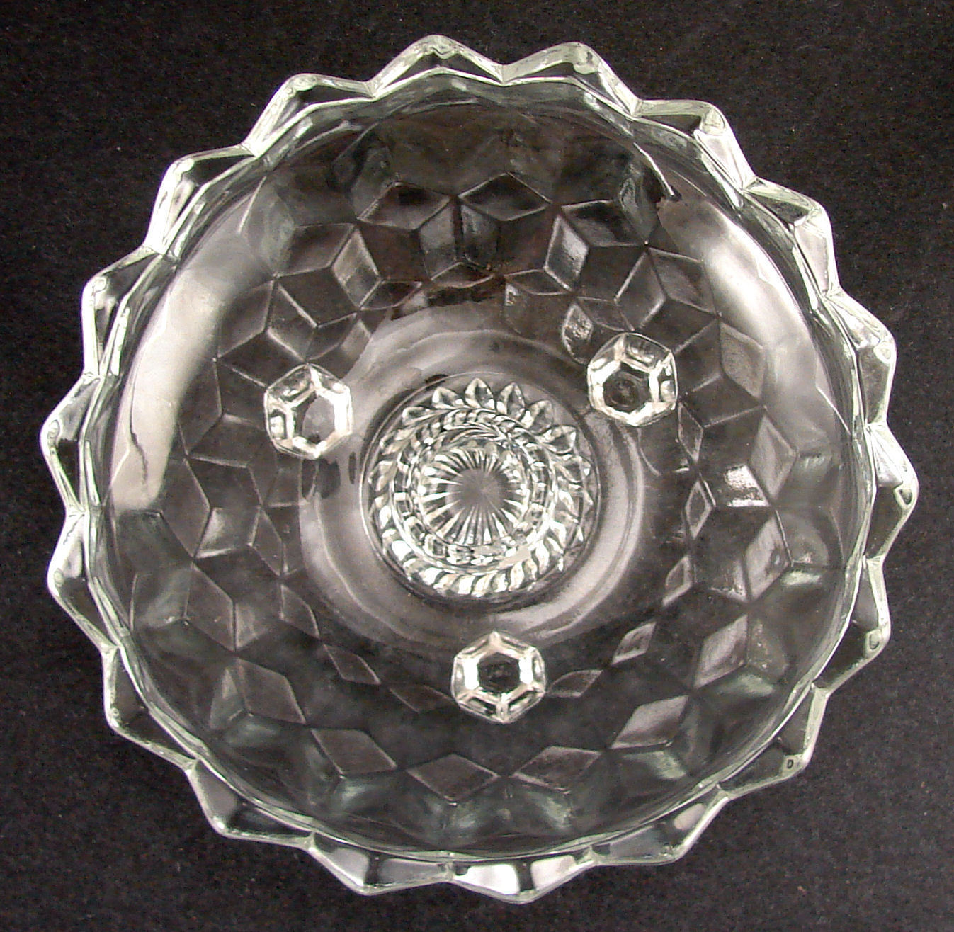 Indiana Whitehall Pattern Footed 6 1/4 Inch Candle Bowl