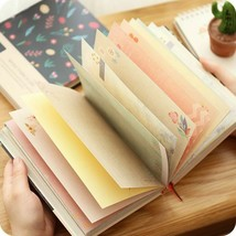 Creative Notebook Beautiful Diary Colored Inner Pages School Student Wri... - $21.32 CAD+