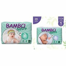 Bambo Nature Eco Friendly Baby Diapers Classic for Sensitive Skin, Size 2 7-13 l
