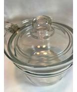Vintage Pyrex Glass Sauce Pan Pot  Glass Handle &  Lid 6212 Pour Spout! - $23.28