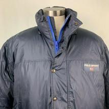 Vintage Polo Sport Ralph Lauren Puffer Jacket XL Navy Blue Down Waterfow... - $128.65