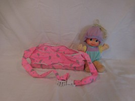 Magic Nursery Fuss N' Giggle Doll with Carrier Mattel 1992 Works Vintage - $42.02