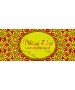 Bonanza Booth Banner- Gold and Red Kaleidoscope - $5.99