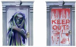Halloween Door Poster Wall Cover Scary Scene Setter 2 Desgins - $2.25+
