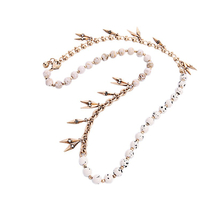 Strand Necklace Vintage Accessories Brand Jewelry Long Beads Chain Necklace - $19.48