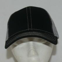 Mega Cap 7641 Grey Mesh Back Black Twill Front Trucker Hat image 1