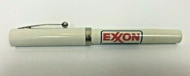 Vintage Sheaffer Pen Flat Top Rolling Ball Exxon Gas White - $24.74