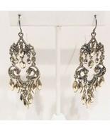 Liz Claiborne Gold Tone Chandelier Earrings - $14.45