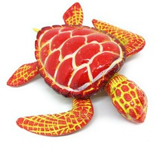 Fussel Tanzende Sea Turtle Kühlschrank Magnet Rot Gelb Küchen Dekor Ozean - $4.56