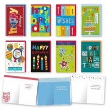 Assorted General Birthday Cards Bulk Card Set of 8 Cards with Envelopes... - $14.67