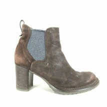 37 / 7 - Alberto Fermani Womens Dark Brown Suede Ankle Boot w/ Heel 1006KH - €123,26 EUR