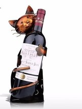 Cat Shaped Wine Holder Shelf Metal Rack Wine Bottle Home Decor Wine Rack... - $32.40