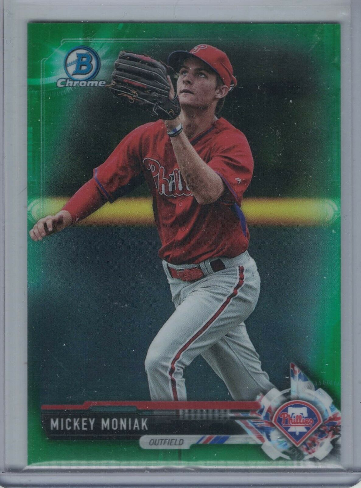 Primary image for MICKEY MONIAK 2017 Bowman Chrome Prospects Green Refractor #78/99 #BCP135  E1579