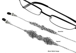 Eyeglasses Chain Necklace Steel Byzantine Chainmail Handcrafted Weaves L... - $35.00+