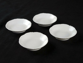 "Haviland Ranson Butter Pats 4 pc Set, Antique Limoges France All White 3"" - $29.40"