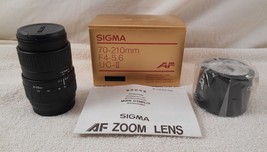 New Sigma 70-210MM F4-5.6 UC-II Af For M-AF ( New In Box ) - $94.99