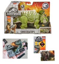 Jurassic World Sinoceratops Roarivores & One Premium Jurassic World Trad... - $34.99