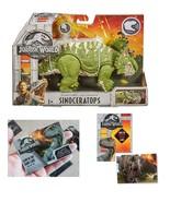 Jurassic World Sinoceratops Roarivores & One Premium Jurassic World Trad... - $36.99