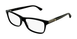 NEW Gucci GG0378O 001 Black Eyeglasses 55-16-140 with Gucci Case - $207.85