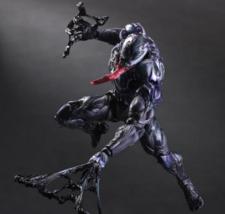 Play Arts KAI VENOM ACTION FIGURE 10 inch With Box Marvel Spiderman Coll... - $74.95