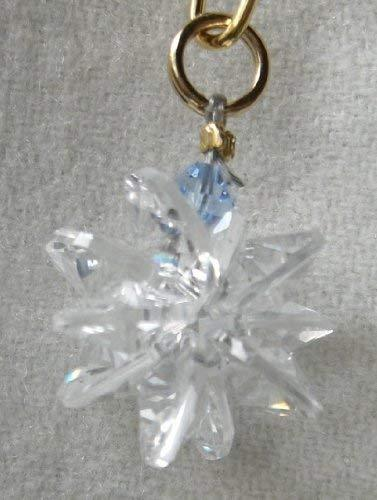 J'Leen Miniature Crystal Suncluster Charm - Clear Aquamarine Accent