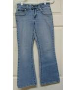 Levis 542 Low Flare Womens Jeans Size 4 M Flap Pocket Light Blue Wash - $24.99