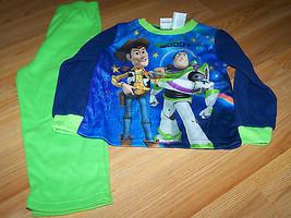 Size 18 Months Disney Toy Story Flannel Pajamas Set Pants Shirt Buzz Woo... - $14.00