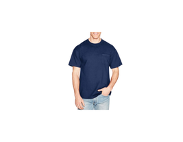 Hanes Men's Beefy-T Adult Pocket 100% Cotton T-Shirt Navy 5194 NEW - $5.99