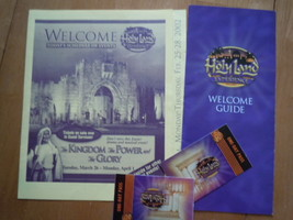 The Holy Land Welcome Guide Schedule of Events & 2 Used Day Passes Flori... - $3.99