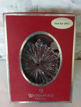 Waterford Snow Crystal Christmas Ornament 2012 Enhancer - $49.49