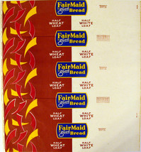 Vintage bread wrapper FAIRMAID WHEAT and WHITE 1952 Fehr Houston Texas u... - $8.99