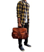 Men's Urban Style Genuine Leather Office Briefcase Bag Cum Laptop bag Br... - $54.45+