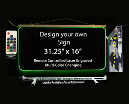 "Custom LED Sign, Multi-Color Changing 31.25"" x 16"", Design your own - $287.10"