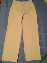 Boys Size 7 Austin Clothing Co pants khaki uniform  flat front - $4.29