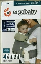 Ergo Baby Four Position 360 Carrier Cool Air Carbon Grey 4 Positions Erg... - $79.19