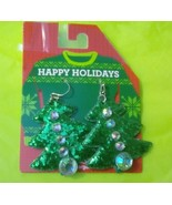 Christmas Tree Dangle Earrings New - $5.00